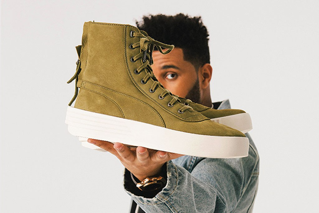 The Weeknd and his Puma shoe The Parallel