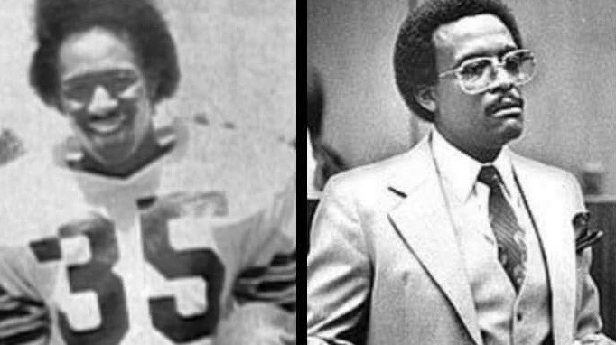 Ron Settles (L) and Johnnie Cochran
