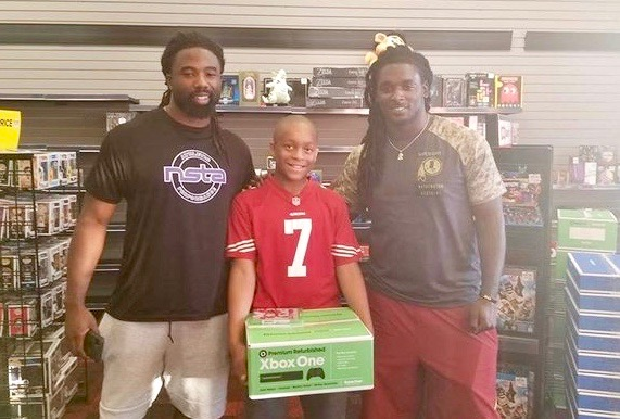 NFL Players Buy Xbox For 10-Year-Old Wearing Colin Kaepernick Jersey
