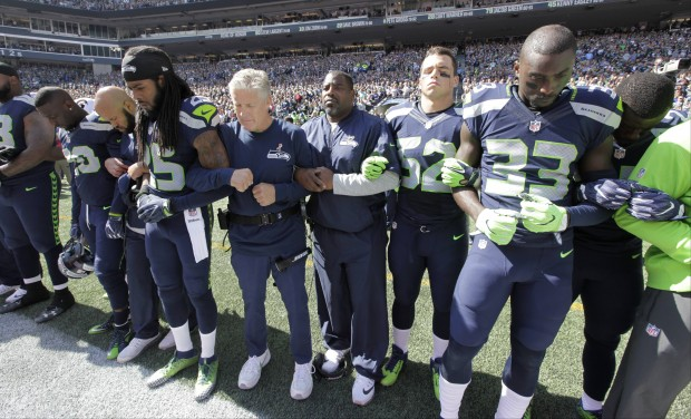 After NFL protests, Seahawks start fund to fight 'injustice and inequality'