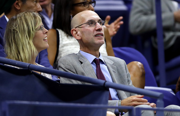 NBA Commissioner Adam Silver attends the Women's Singles Quarterfinal Match between Venus Williams of the United States and Petra Kvitova of Czech Republic on Day Nine of the 2017 US Open at the USTA Billie Jean King National Tennis Center on September 5, 2017 in the Flushing neighborhood of the Queens borough of New York City.