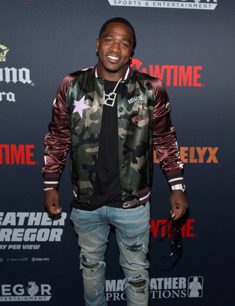 Boxer Adrien Broner attends the Showtime, WME IME and Mayweather Promotions VIP Pre-Fight party for Mayweather vs. McGregor at T-Mobile Arena on August 26, 2017 in Las Vegas, Nevada.