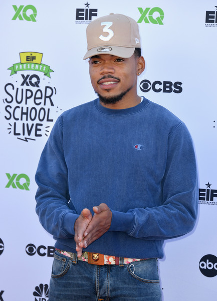 Chance The Rapper attends XQ Super School Live, presented by EIF, at Barker Hangar on September 8, 2017 in Santa California.