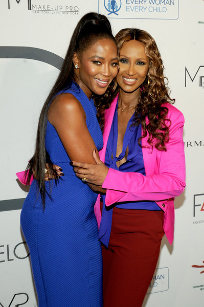 Models Naomi Campbell and Iman attend Fashion 4 Development's 7th Annual First Ladies Luncheon at The Pierre Hotel on September 19, 2017 in New York City.