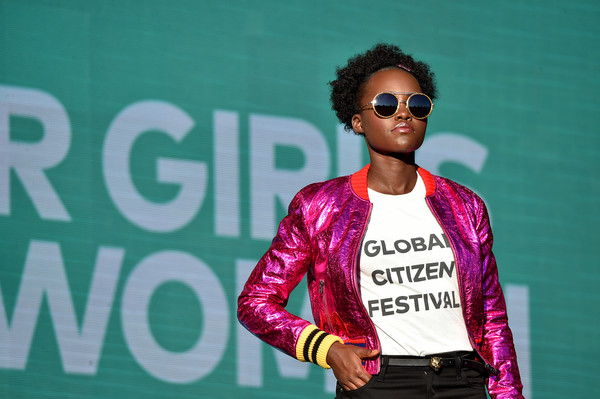 Actress Lupita Nyong'o speaks onstage during the 2017 Global Citizen Festival in Central Park to End Extreme Poverty by 2030 at Central Park on September 23, 2017 in New York City. at Central Park on September 23, 2017 in New York City.