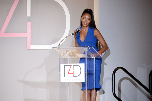 Model Naomi Campbell speaks onstage during Fashion 4 Development's 7th Annual First Ladies Luncheon at The Pierre Hotel on September 19, 2017 in New York City.