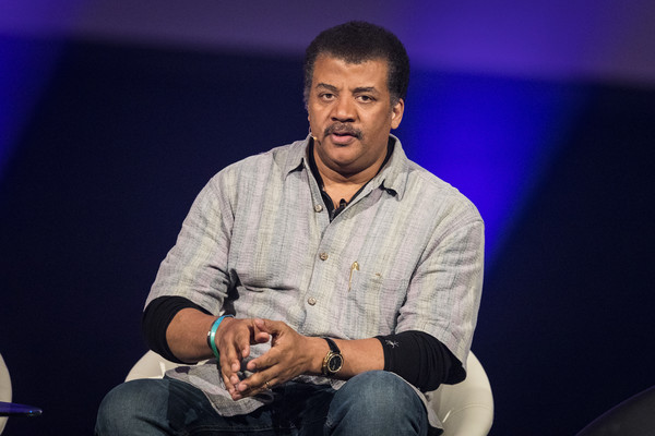 Neil deGrasse Tyson participates in a roundtable discussion during the Starmus Festival on June 21, 2017 in Trondheim, Norway.