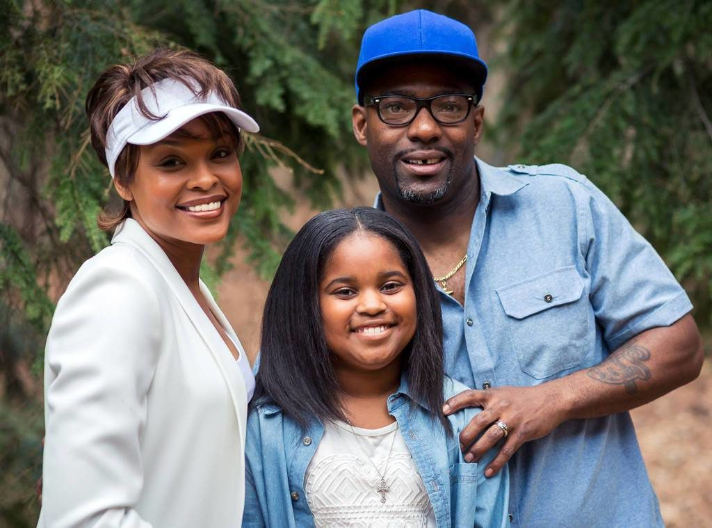 "TV One's ""Bobbi Kristina"" biopic: Demetria McKinney as Whitney Houston, Hassan Jonson as Bobby Brown and Joy Rovaris as Bobbi Kristina"
