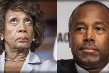 maxine waters - ben carson