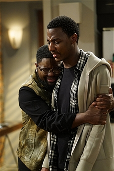 """THE CARMICHAEL SHOW -- """"Shoot-up-able"""" Episode 304 -- Pictured: (l-r) Lil Rel Howery as Bobby Carmichael, Jerrod Carmichael as Jerrod Carmichael -- (Photo by: Chris Haston/NBC/NBCU Photo Bank)"""