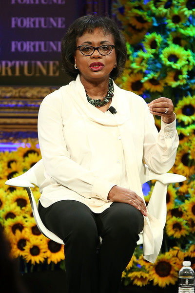 Anita Hill speaks onstage at the Fortune Most Powerful Women Summit 2016 at Ritz-Carlton Laguna Niguel on October 19, 2016 in Dana Point, California.