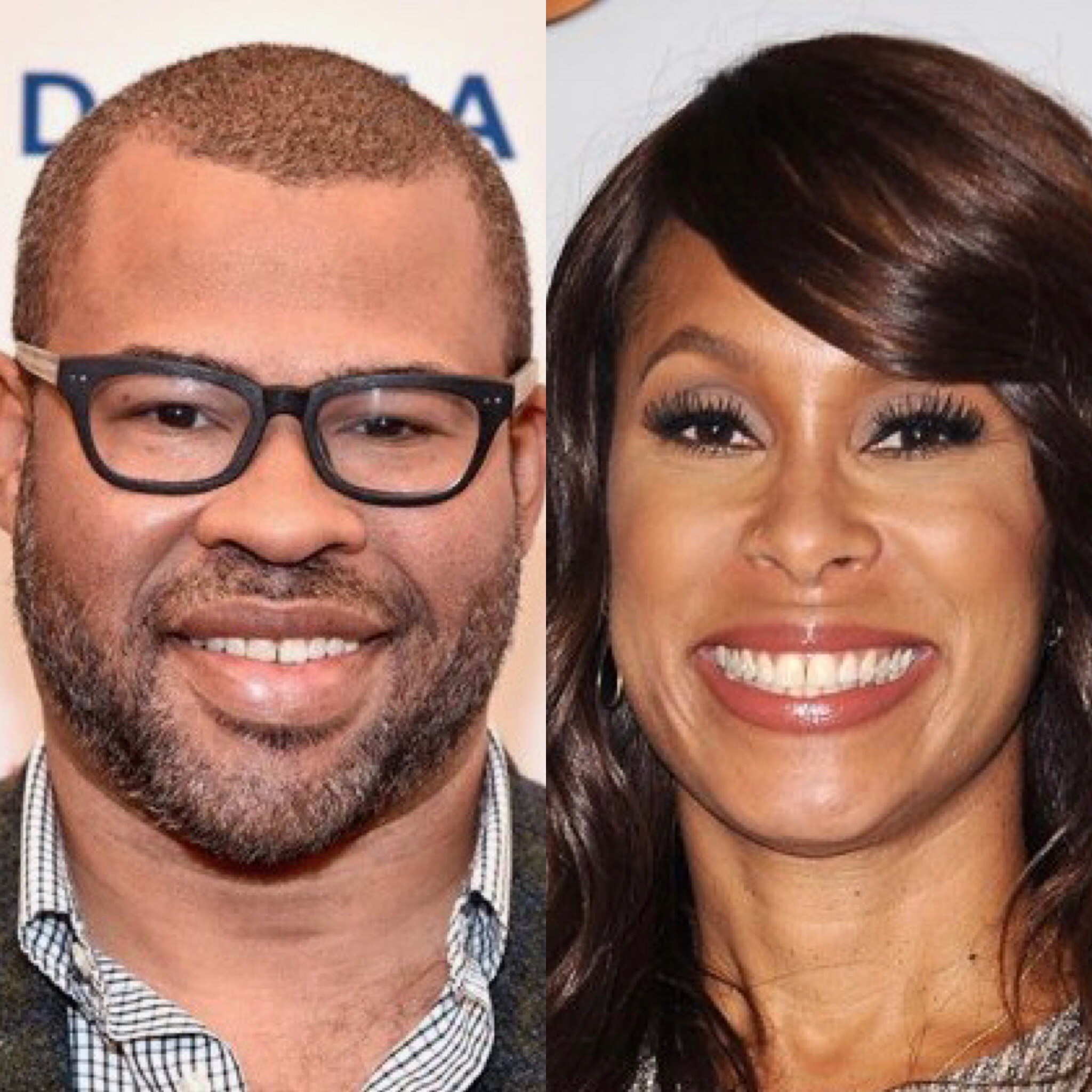 Jordan Peele and Channing Dungey