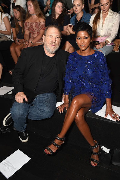 Harvey Weinstein and Tamron Hall attend the Marchesa fashion show during New York Fashion Week: The Shows at Gallery 1, Skylight Clarkson Sq on September 13, 2017 in New York City.