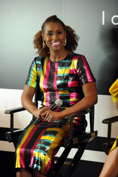 Issa Rae attends the Fast Company Innovation Festival - Issa Rae and CoverGirl's Ukonwa Ojo on The Business Of Beauty and Transformation From The Inside Out on October 23, 2017 in New York City.