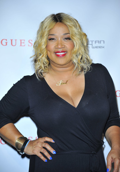 Comedian Kym Whitley poses for a photo backstage during the 2016 ESSENCE Festival presented by Coca Cola at the Louisiana Superdome on July 1, 2016 in New Orleans, Louisiana.