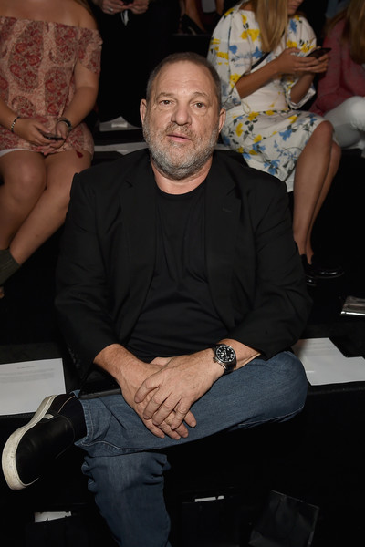 Producer Harvey Weinstein attends the Marchesa fashion show during New York Fashion Week: The Shows at Gallery 1, Skylight Clarkson Sq on September 13, 2017 in New York City.