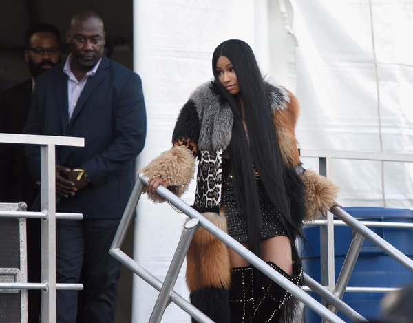 Nicki Minaj poses backstage with future during the Meadows Music and Arts Festival - Day 2 at Citi Field on September 16, 2017 in New York City.