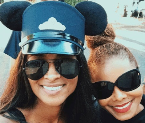 Ciara (L) and Janet Jackson at Disneyland (Instagram/Ciara)