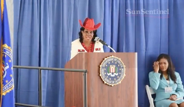 """Video from 2015 shows full speech of Rep. Frederica Wilson at dedication ceremony of new FBI building in Miramar, Florida, named for two slain FBI agents. The speech has drawn attention after White House Chief of Staff John F. Kelly criticized her for claiming """"she got the money"""" for the new building. (Sun-Sentinel Video)"""
