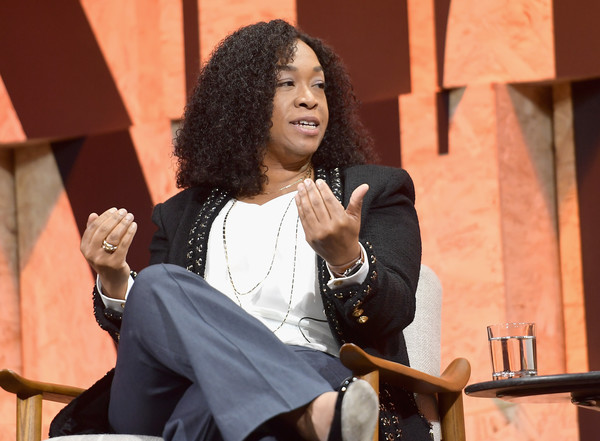Founder of Shondaland Shonda Rhimes speaks onstage during Vanity Fair New Establishment Summit at Wallis Annenberg Center for the Performing Arts on October 4, 2017 in Beverly Hills, California.