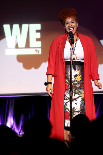 Tina Campbell of Mary Mary performs onstage at WE tv hosts an exclusive premiere event for the final season of Mary Mary on September 26, 2017 in New York City.