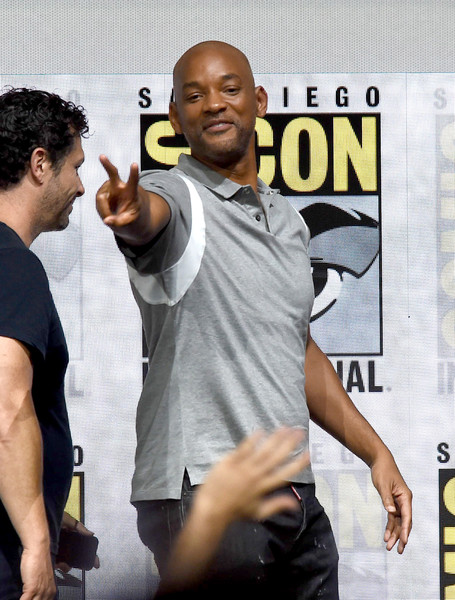 "Actor Will Smith walks offstage at Netflix Films: ""Bright"" and ""Death Note"" panel during Comic-Con International 2017 at San Diego Convention Center on July 20, 2017 in San Diego, California."