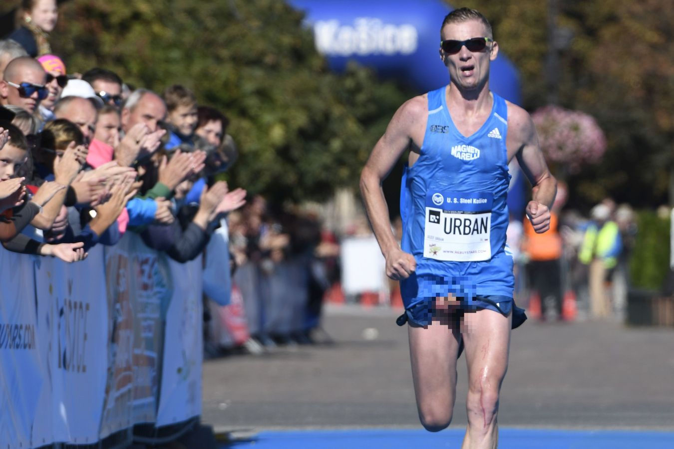 NSFW: Marathon Runner Finishes Race With His Penis Fully Out of His Shorts