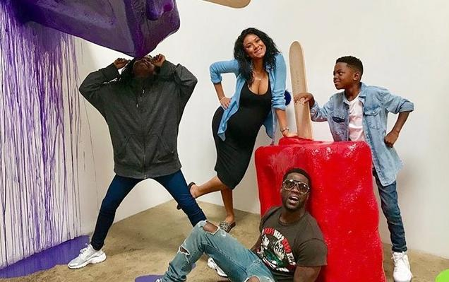 kevin hart family at museum of ice cream
