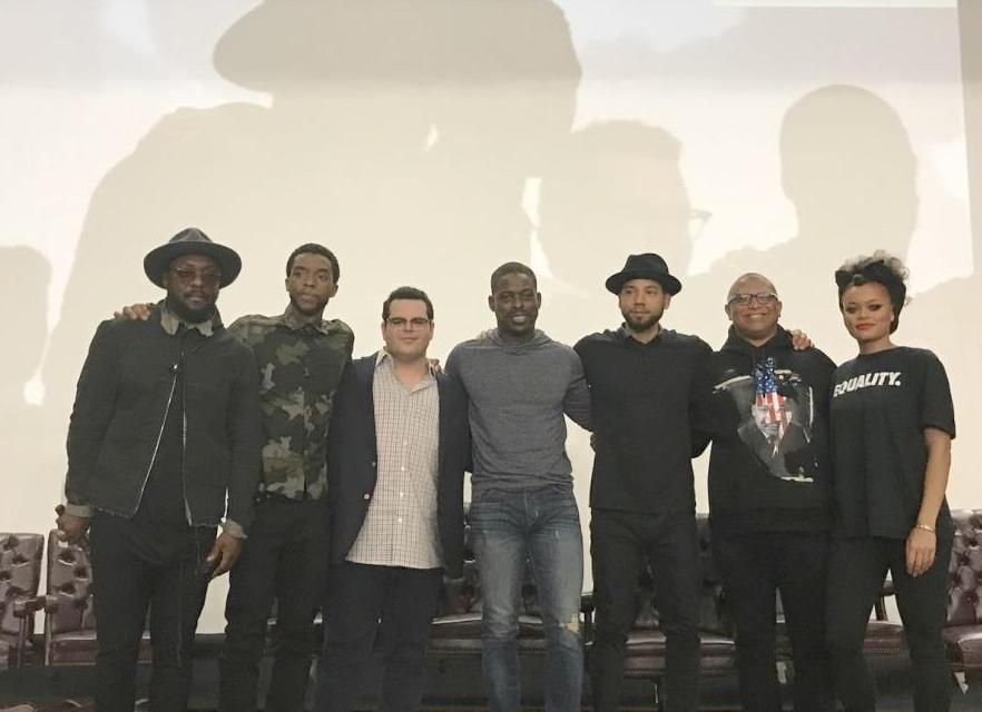 marshall cast & others at compton high school
