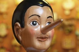 wooden dummy with long nose