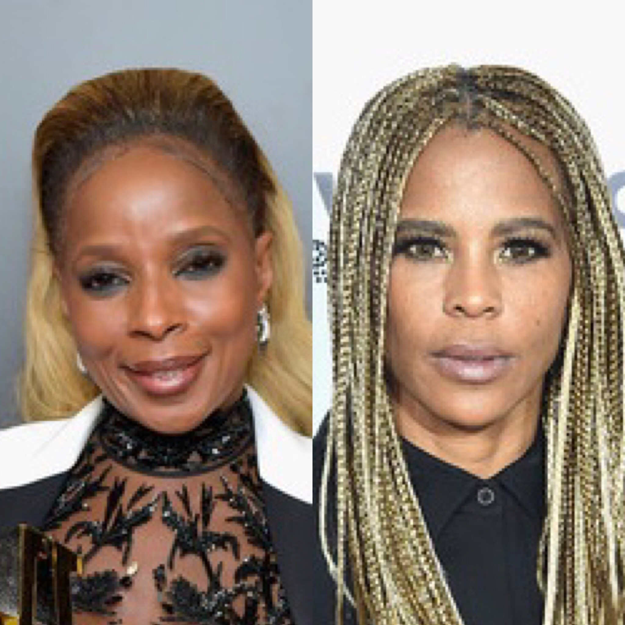 Mary J. Blige (L) and Laurieann Gibson
