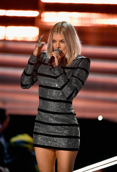 Singer Fergie performs during the 2017 Miss Universe Pageant at The Axis at Planet Hollywood Resort & Casino on November 26, 2017 in Las Vegas, Nevada.