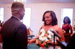 Kandice Benford & husband wedding