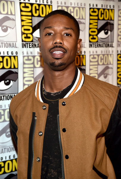Actor Michael B. Jordan from Marvel Studios' 'Black Panther' at the San Diego Comic-Con International 2017 Marvel Studios Panel in Hall H on July 22, 2017 in San Diego, California.