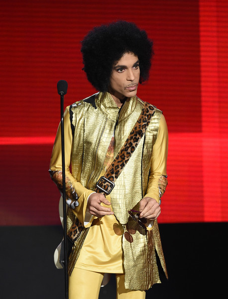 Musician Prince speaks onstage during the 2015 American Music Awards at Microsoft Theater on November 22, 2015 in Los Angeles, California.