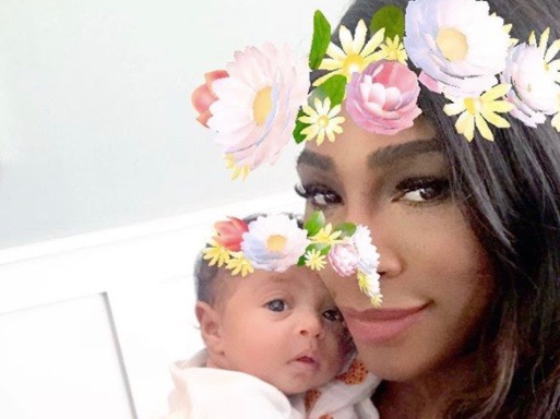 Serena Williams and daughter Alexis Olympia Ohanian Jr. (Instagram)