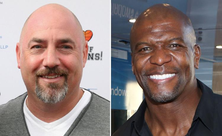 Adam Venit (left) is accused of groping Terry Crews at a party last year