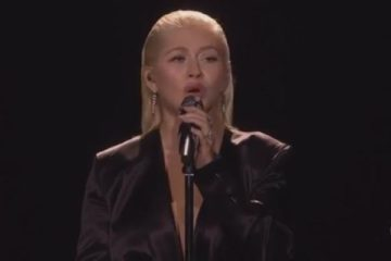 christina aguilera - 2017 amas - whitney houston tribute - fail