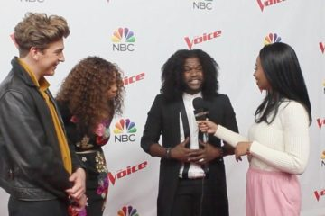 the voice contestants on red carpet