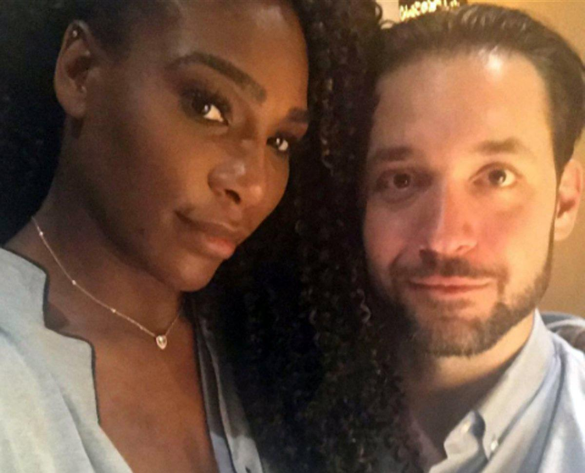 Serena Williams and Alexis Ohanian are pictured in an Instagram post on Tuesday, September 12, 2017. (INSTAGRAM)