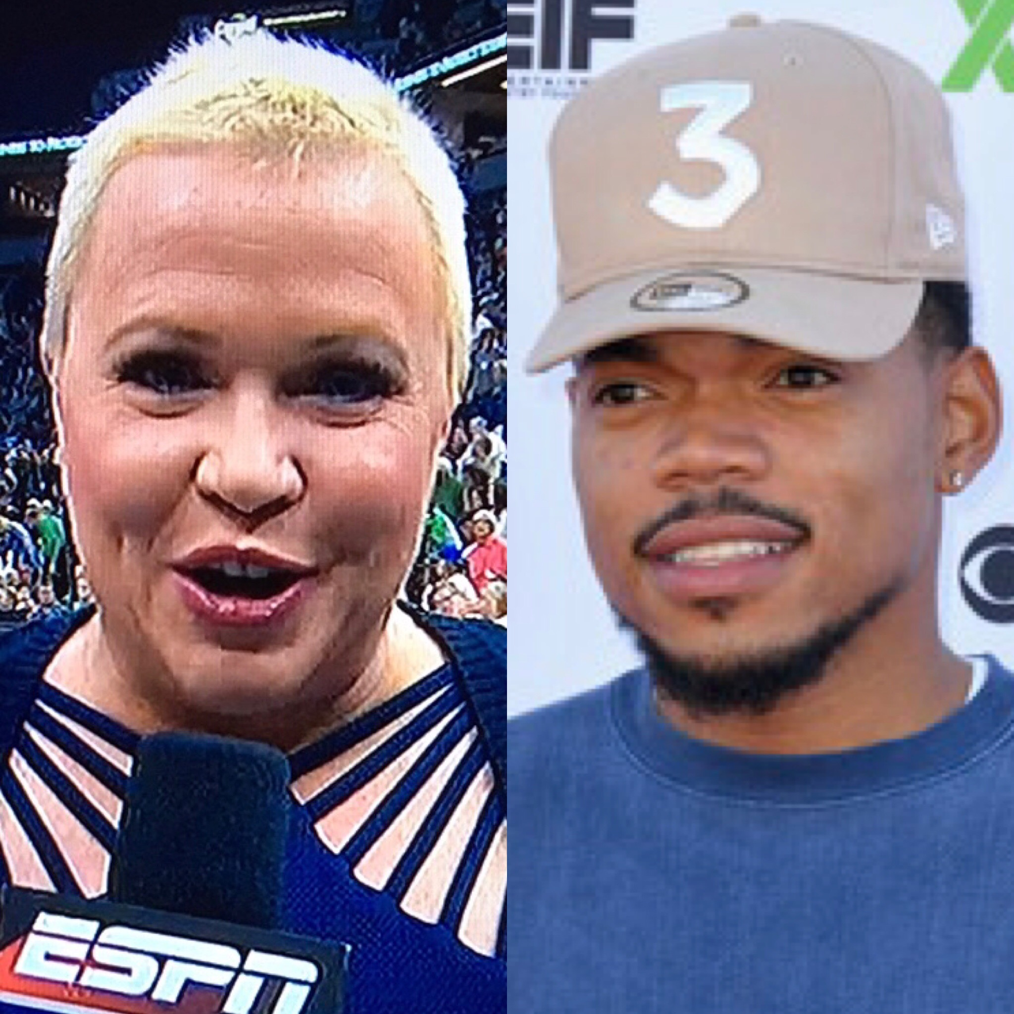 Holly Rowe and Chance the Rapper