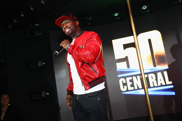 """Curtis """"50 Cent"""" Jackson speaks on stage at BET's 50 Central Premiere Party on September 25, 2017 in New York City."""