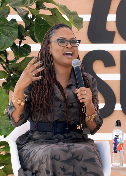 Ava DuVernay speaks onstage during The Teen Vogue Summit LA: Keynote Conversation with A Wrinkle In Time director Ava Duvernay and actresses Rowan Blanchard and Storm Reid on December 2, 2017 in Playa Vista, California.