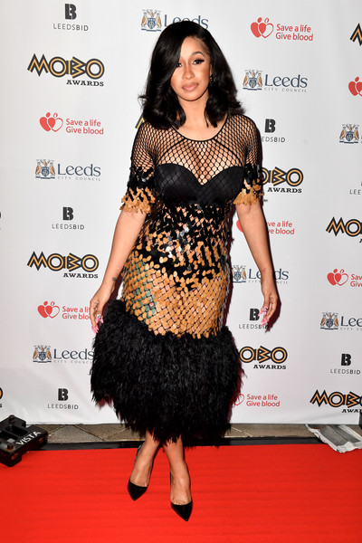 Cardi B attends the MOBO Awards at First Direct Arena Leeds on November 29, 2017 in Leeds, England.