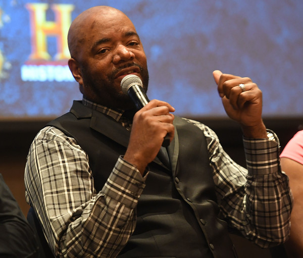 """Ed Lover speaks onstage at HISTORY's """"Roots"""" Atlanta advanced screening at National Center for Civil and Human Rights on May 9, 2016 in Atlanta, Georgia."""