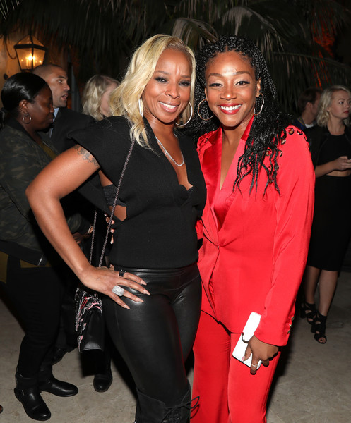 Mary J. Blige and Tiffany Haddish attend The Four cast Sean Diddy Combs, Fergie, and Meghan Trainor Host DJ Khaled's Birthday Presented by CÎROC and Fox on December 2, 2017 in Beverly Hills, California.