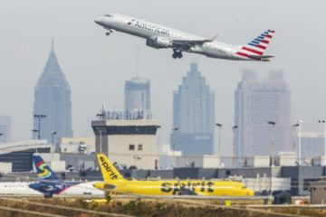 atlanta airport - atlanta skyline