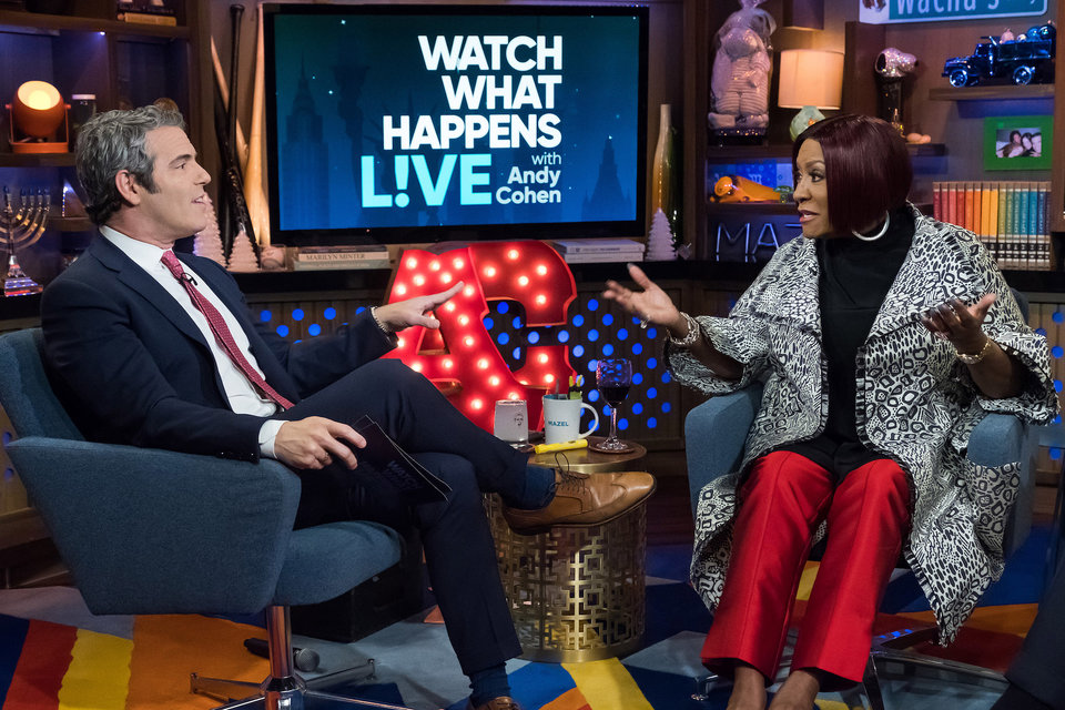 "Andy Cohen and Patti LaBelle - ""Watch What Happens Live"" Dec. 5, 2017 (BRAVO)"