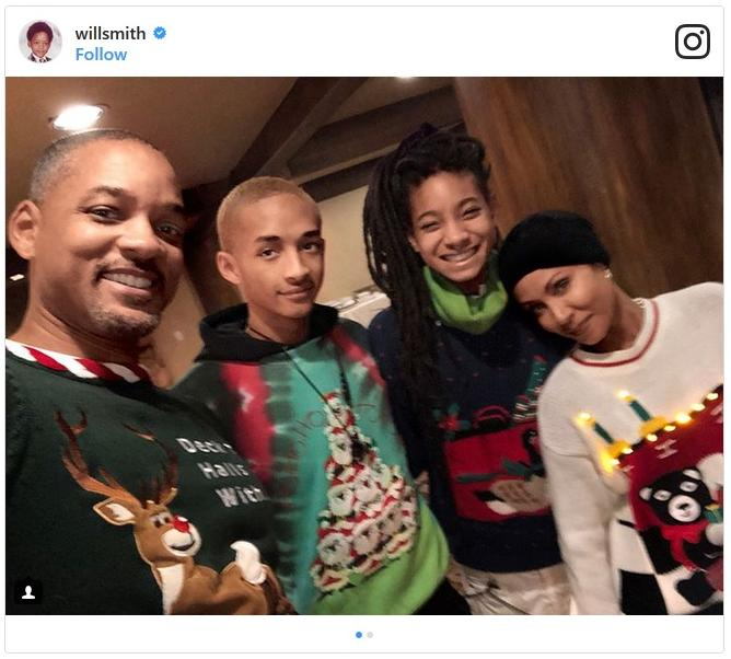 will smith family at christmas