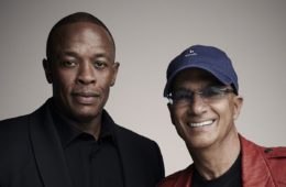 Jimmy Iovine (R) and Dr. Dre